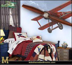 http://themerooms.blogspot.com/2013/05/airplane-theme-bedroom-aviation-themed.html