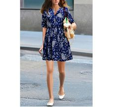 This #womenminidress can be the best part of your wardrobe! The v-neck and floral prin makes it cute but sexy! You can wear it all round year! http://www.tomtop.cc/FRjMnu