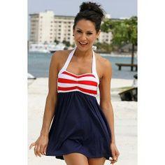 Sailor Girl Swim Dress - super cute and modest swimsuit! :D @Chrissy L L L L, or this one! @Sarah Hamel
