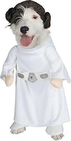 Haustier Hund Katze Welpe Animal Star Wars Prinzessin Leia Halloween Weihnachtsgeschenk Maskenkostüm Kleidung Outfit - M