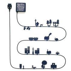 World of Alice AC adapter with little figures along the wire for interest