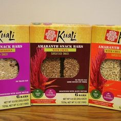 Just in @wholefoodsmag: Hop on the amaranth trend with these snack bars. Low-cal, GMO free, organic. @kualiorganics