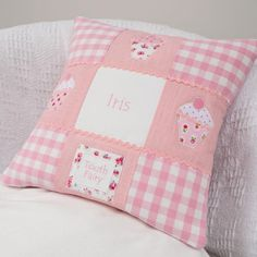 With a small pouch for storing the teeth so you can keep the tooth fairy alive for a little while longer Little Girl Gifts, Little Girls, Bed Pillows, Cushions, Tooth Fairy, Teeth, Personalized Gifts, Pillow Cases, Sewing Projects