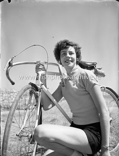 'Miss Cycling' Special at Dun Laoghaire - Miss Joy McVeigh, Belfast, Photo Archive, Ireland, Irish, Cycling, Bicycle, Joy, Sports, Hs Sports