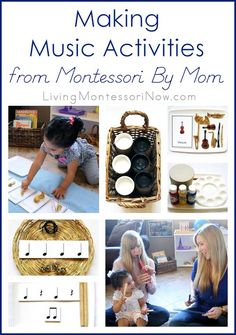 Lots of fun, hands-on music activities for ages 3-6, although many work for toddlers or elementary-age, too. Activities and YouTube video using materials from the Montessori By Mom Making Music Toolbox.