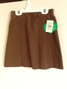 Girl Scouts Brownie Skirt Brown Size Small Uniform New!  #GirlScoutsofAmerica #Brownies