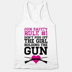 Gun Safety Rule #1 | HUMAN | T-Shirts, Tanks, Sweatshirts and Hoodies