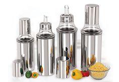 Stainless Steel Oil Dispenser / Pourer 350ml + 750ml combo 2pcs