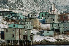 Picture of a vacant town in Newfoundland Newfoundland Canada, Newfoundland And Labrador, Spooky House, Halloween Haunted Houses, Abandoned Cities, Abandoned Mansions, Creepy Pictures, City Aesthetic, Canada Travel