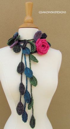 Similar to (but more elegant than) the scarf we made for our dear instructional coach... Love this...