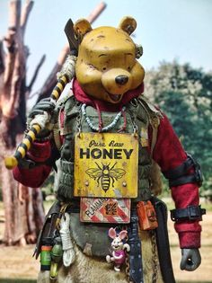 A Hardcore Honey Bear is listed (or ranked) 5 on the list Badland Models Transforms Pop Culture Icons Into Mad Max-Style Bandits Cartoon Kunst, Cartoon Art, Cartoon Characters, Arte Cyberpunk, Post Apocalyptic Art, Apocalyptic Fashion, Character Concept, Character Art, Concept Art