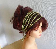 Rustic headband Boho hippie Headband , Summer Headband, Braided crochet Headband, womens headband Hair Accessories, boho girl hair Accessory