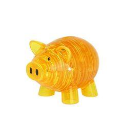 2 Colors Crystal Puzzle Piggy Bank Model 3D Puzzle DIY Building Kids Toy Popular Gift Gadget for Children