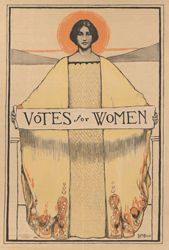 Suffrage Poster.  California women won the right to vote in October 1911--100 years ago