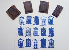 Basically... Run!: DW DIY - Linocut Tardis Stamps