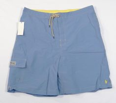 POLO Ralph LAUREN Swim TRUNKS Boardshorts 2XL Blue NEW Mens NWT Man SIZE Sz XXL* #PoloRalphLauren #Trunks