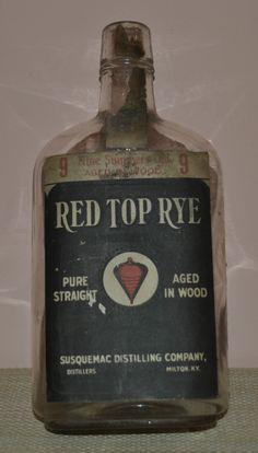 Vintage Red Top Rye Whiskey Bottle Prohibition Era   eBay