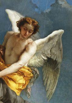 Tiepolo. Detail from The Stigmatization of Saint Francis.