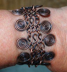 copper wire work bracelet