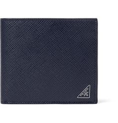 A cool alternative to classic black styles, Prada's wallet has been meticulously crafted in Italy from storm-blue pebble-grain leather. It opens to a dark-brown interior that's kitted with card slots, bill sleeves and pockets for your receipts. The sleek presentation box makes it ideal for gifting.