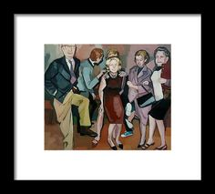 People Framed Print featuring the painting Funny by Carmen Stanescu Kutzelnig Funny Paintings, Hanging Wire, Fine Art America, Framed Prints, People, Fictional Characters, People Illustration, Folk