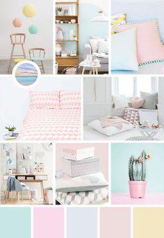 Une jolie chambre pastel toute douce pour bébé