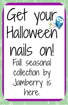 Get your Halloween nails on! Fall seasonal collection by Jamberry is here!