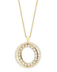 Roberto coin Double-Sided White & Cognac Diamond Pendant Necklace ...