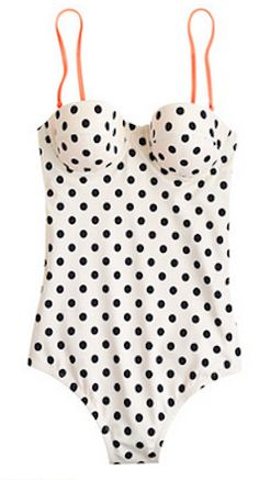 Love this polka dot swimsuit