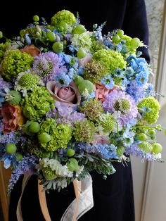 rose,scabiosa and feverfew