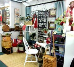 antique mall booth idea, birds of a feather texas, plano antique mall, funky junk, unique antique, home stager plano
