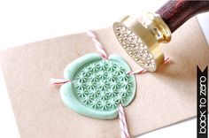 Dandelion Gold Plated Wax Seal Stamp x 1