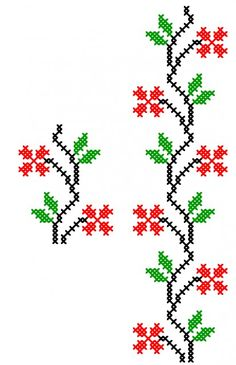 FL372 Tiny Cross Stitch, Cross Stitch Bookmarks, Cross Stitch Borders, Cross Stitch Flowers, Cross Stitch Designs, Cross Stitching, Cross Stitch Embroidery, Cross Stitch Patterns, Hand Embroidery Design Patterns