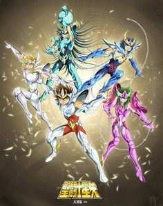 Seiya, Shiryu, Hyoga, Shun, Ikki by Spaceweaver