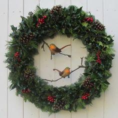 The Holly Robins Fresh Christmas Door Wreath