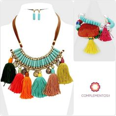 Qué te parece este collar super colorido para este Verano?  Para pedidos : 809 853 3250 / 809 405 5555 Pagos a traves de Paypal  Delivery   #staytunned #newcollection #necklace #summer #fun #colorful #foryou #accesories #chic #trendy #delicate #precious #glam #gorgeous #unique #byou #becomplete #pretty #complementosjewelry #complementosrd