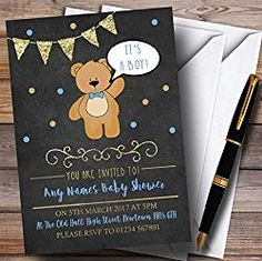 Cute Teddy Bear Shower Decorating Ideas, Supplies & Pooh Bear too! Cute Baby Shower Ideas, Baby Shower Fall, Baby Shower Games, Baby Shower Invitation Templates, Shower Invitations, Free Baby Shower Printables, Teddy Bear Baby Shower, Baby Shower Thank You, Cute Teddy Bears