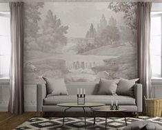 French countryside - Antique mural wallpaper