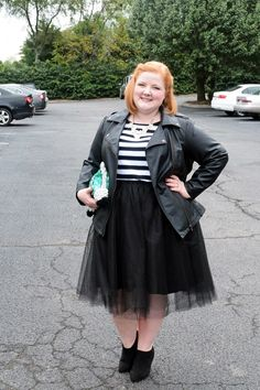 Liz from WithWonderand Whimsy models a black tulle skirt from The Girl That Loves and shares her simple formula for building an outfit around your tulle skirts this fall. Gorgeous.