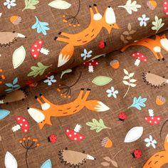 Fuchs und Igel Sunglasses Case, Scrappy Quilts, Hedgehog, Fox, Kawaii, Get Tan, Animals, Cotton