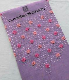 Call or whats app 9035330901 ro customise Zardozi Embroidery, Embroidery On Kurtis, Hand Embroidery Dress, Kurti Embroidery Design, Bead Embroidery Patterns, Couture Embroidery, Embroidery Works, Flower Embroidery Designs, Creative Embroidery