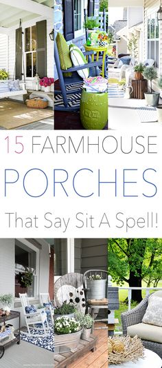 15 Farmhouse Porches That Say Sit A Spell! | The Cottage Market | Bloglovin'