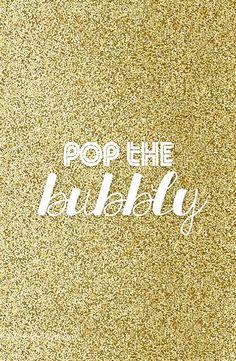 Pop the bubbly!