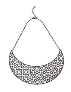 Marine grade 316 Stainless steel plated with Black Titanium - Mesh Necklace