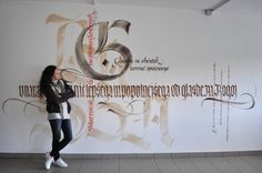Calligraphy on wall...