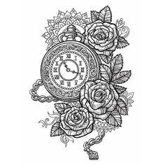 boussole rose sablier montre dessins et dessins tatouages pinterest tatouage dessin. Black Bedroom Furniture Sets. Home Design Ideas