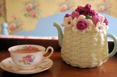 flower tea cozy