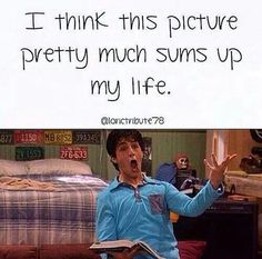 I grew up wanting to be Drake, but I became the person with the nerdiness of Josh and the laziness of Drake.
