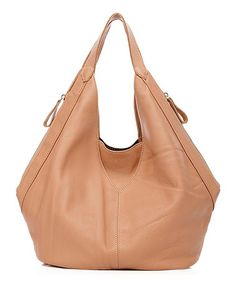 This Apricot Zelda Leather Hobo by Foley & Agamo is perfect! #zulilyfinds
