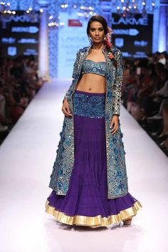 #mirror #work #lehenga #jacket in #royal #blue
